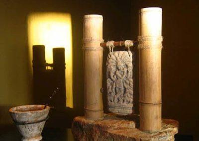 Shale, Sandstone, Bamboo, Twine