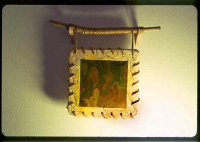 Plaster, Wood, Rope, Slate