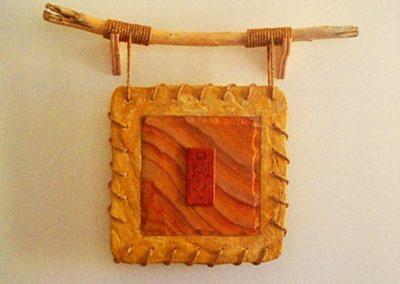 Plaster, Wood, Rope, Sandstone